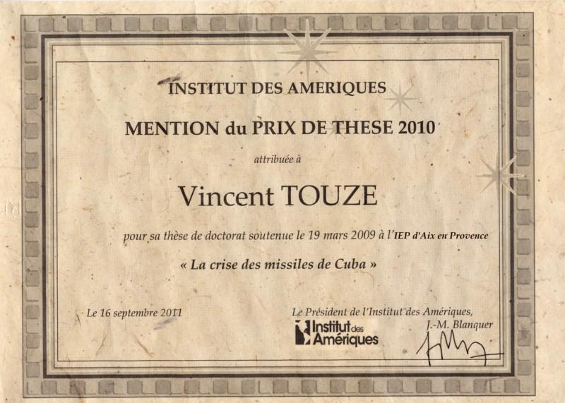 Vincent Touze Prix Conseil Scientifique IDA Touze
